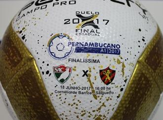 Bola personalizada da final do Pernambucano já está na FPF