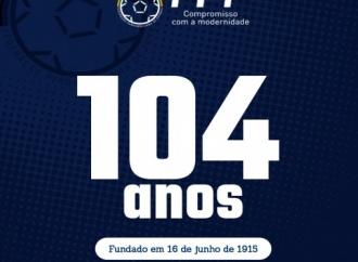Domingo, 16 de junho de 2019: FPF completa 104 anos