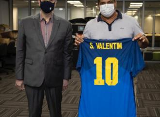 Salmo Valentim se reúne com Rogério Caboclo para reivindicação