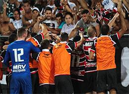 Santa Cruz enfrenta o Fluminense, no Arruda